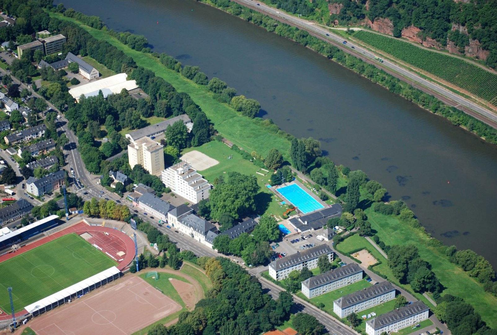 Bauabschnitt 2 Nordbad Stadion Luftbild